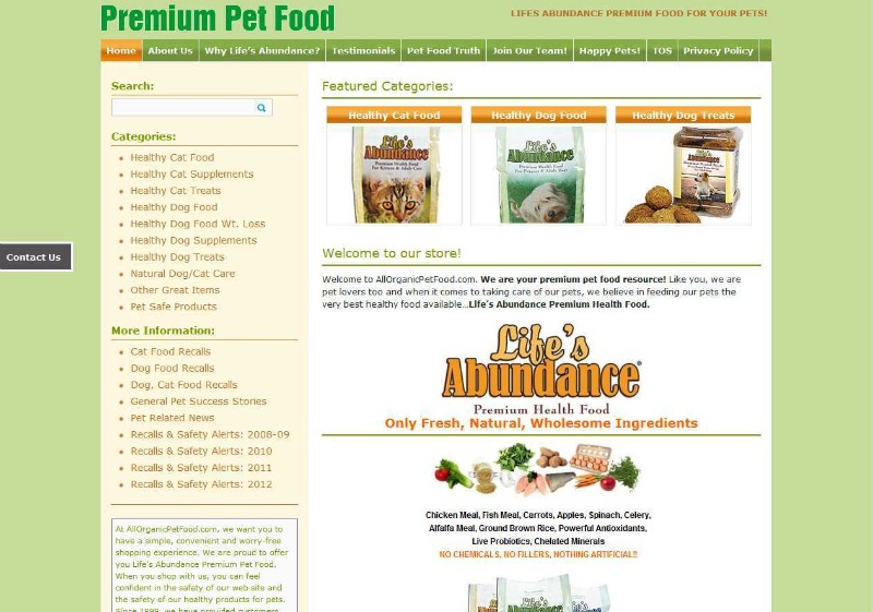 for All natural pet cuisine