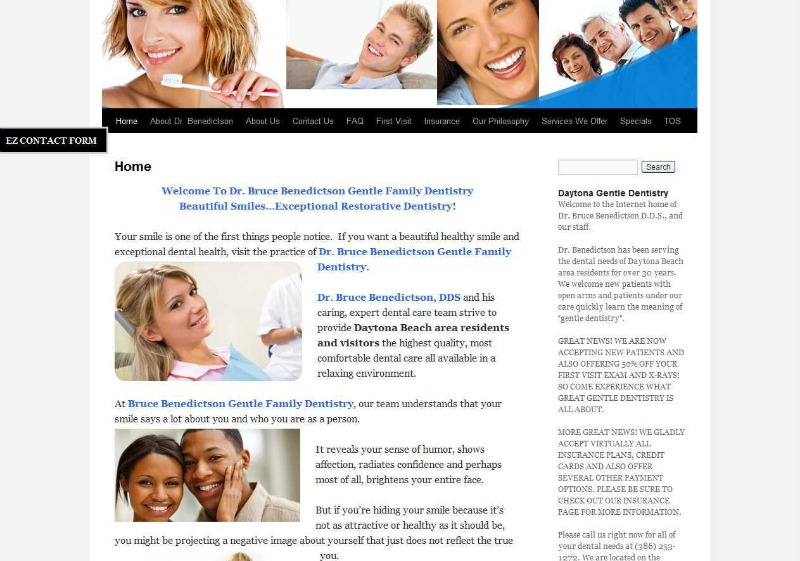 Brucebenedictson.com website image from DomainEngines