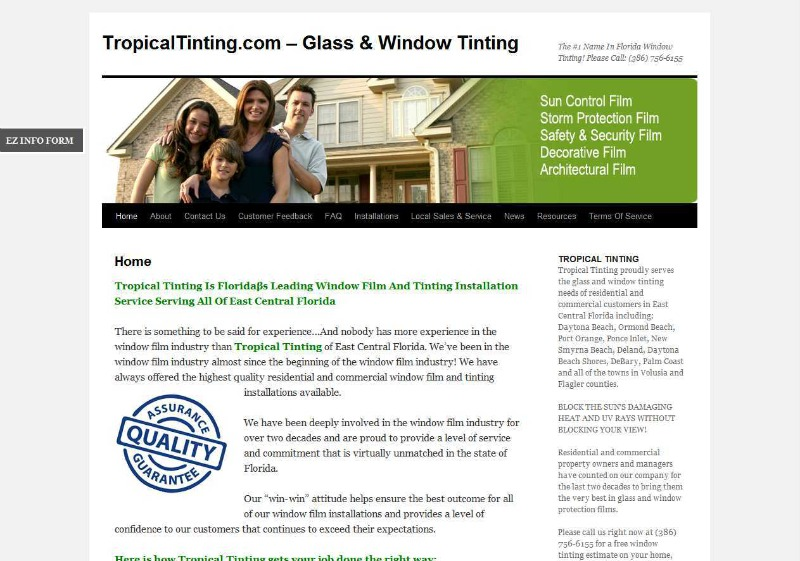 TropicalTinting.com website powered by DomainEngines.com