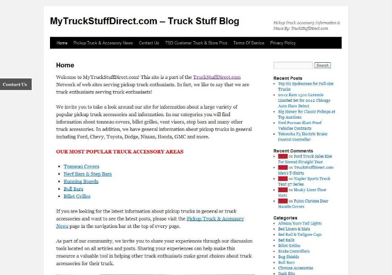MyTruckStuffDirect.com Blog powered by DomainEngines.com